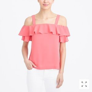 NWT J. Crew Cold-Shoulder Top